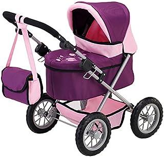 Bayer Design- Cochecito de muñeca, Trendy, Color Rosa, Lila