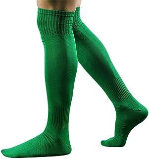 3 Pares de Calcetines de Fútbol Para Hombre Rodilla de Fútbol de Alta Compresión de Hockey de Algodón Calcetines de Béisbol Mannen Sokken Calcetines deportivos de Algodón Verde Un Tamaño