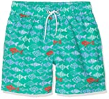 Hackett Fish Print Bañador, Verde (Bright Green 633), 122/128 (Talla del Fabricante: 7-8 años) para Niños