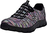 Skechers Women's Empire Fashion Sneaker, Multi/Black, 8.5 W US