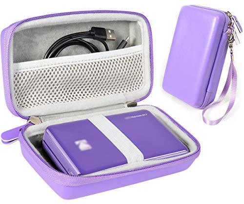 Instant Printer Case for Kodak Mini 2 HD Wireles, Mini, All-New Mini 2 Plus, Step, Step Touch, Smile; HP Sprocket, Pickit M2, SereneLife 2x3 Instant Porter Printer, Mesh Pocket