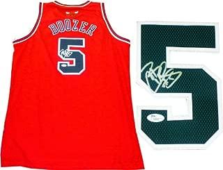 Carlos Boozer Autographed Chicago Bulls Swingman Jersey (JSA)