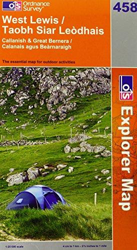 OS Explorer map 458 : West Lewis / Taobh Siar Leòdhais