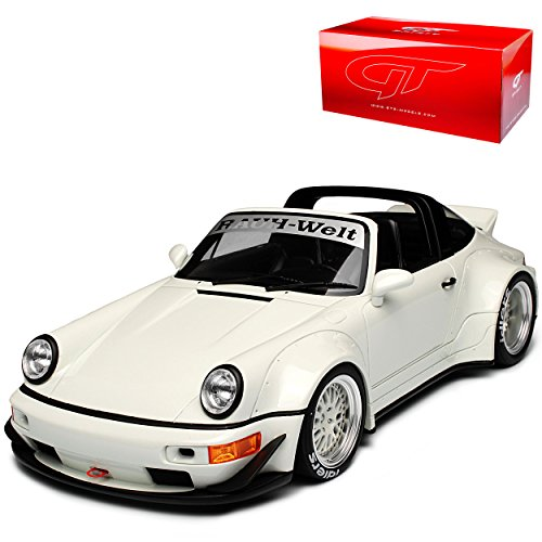 GT Spirit Porsche 911 964 Targa RWB Rauh Welt Weiss 1988-1994 Nr 188 1/18 Modell Auto mit individiuellem Wunschkennzeichen