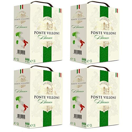 Bag-in-Box - Vin d'Italie - Ponte Villoni - Italien - - Weißwein, lieblich, Box mit:4 Boxen