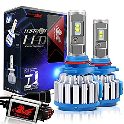 Win Power 9005 LED Headlight Bulbs Conversion Kit HB3 CREE 70W 7200LM 6000K Cool White High Beam LED Replacement Bulbs-2 Yr Warranty