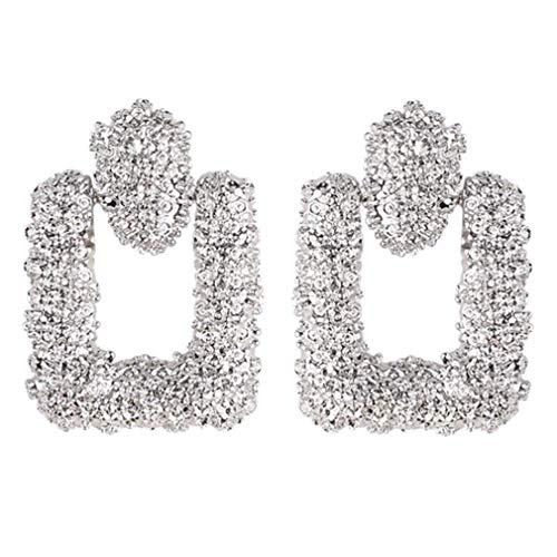 YAZILIND exagerados pendientes colgantes aleación colgante geométrico colgante colgante pendiente señoras joyería (plata)