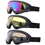 Ski Goggles, Yidomto Pack of 3 Snowboard Goggles for Kids,Boys,Girls,Youth, Mens,Womens,with UV...
