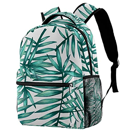 Mochila para niños, mochila escolar, diseño de palmetto sin costuras, bolsa de tela de tela trenzada, informal, para niñas y niños