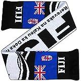Fidji Rugby Union Écharpe pour fans de Coupe du monde (100% acrylique)