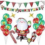Siumir 21 Set Navidad Globos Aluminio Globos Decoraciones Navideñas Decoración del Hogar Decoracion de Fiesta