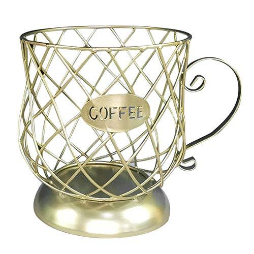 Shubiao Multifunctional Storage Rack Mug Cup-Shaped Anti-Rust Coffee Pod Holder Storage Rack for Coffee Bar Kitchen