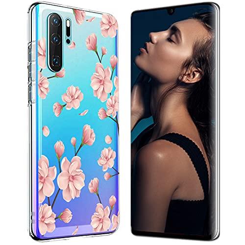 Zater Hülle Case für Huawei P30 Handyhülle,Huawei P30 Pro Schutzhülle Ultradünn Transparent Silikon Soft TPU Crystal Clear Bumper Schutzhülle für Huawei P30 Lite Hülle (3, Huawei P30 Lite)