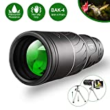 Monocular Telescope,16x52 Monocular Dual Focus Optics Zoom Telescope, Day & Low Night Vision- [Upgrade]Waterproof Monocular with Durable and Clear FMC BAK4 Prism Dual Focus for Bird Watching, Camping