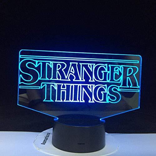 Lámpara de ilusión 3D LED luz nocturna The Stranger Things