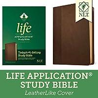 Life Application Study Bible: New Living Translation, Dark Brown/brown, Leatherlike
