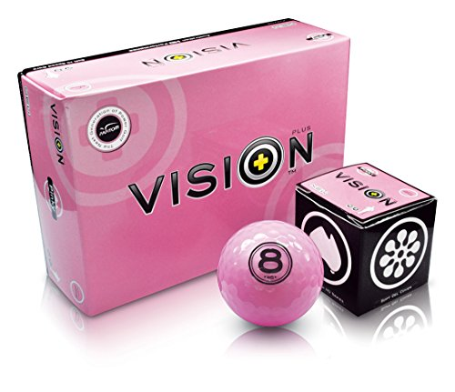 "6 Golfbälle Pink - Vision ""The Gel Pinky"" - Distance Performance Golfbälle Pink Soft-Cover ideales Golf Geschenk für Frauen"