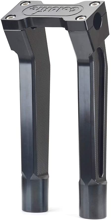 """VINTAGE STYLE  2/"""" BLACK RISERS FOR GLIDE  4 HARLEY with 1/"""" DIA HANDLEBARS"""
