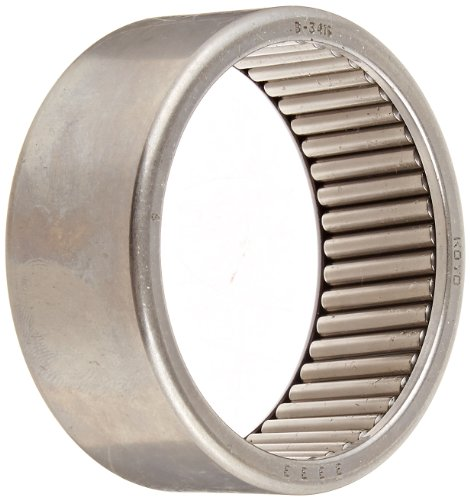 Koyo B-3416 Needle Roller Bearing, Full Complement Drawn Cup, Open, Inch, 2-1/8