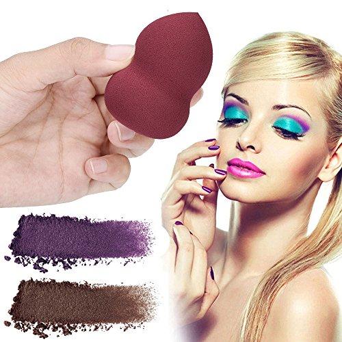 Maquillage éponge, PENNGE 1 PCS Pro Beauty Sponge Fond De Maquillage Puff Blender éponge de maquillage Blush Estompeur Correcteur Yeux Visage Poudre Crème (rouge)
