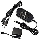HQRP Adaptador de CA / Cargador para Panasonic DMW-AC8PP DMW-DCC8 Lumix DMC-FZ200 DMC-G5 DMC-G6 DMC-GH2 Cámara Digital