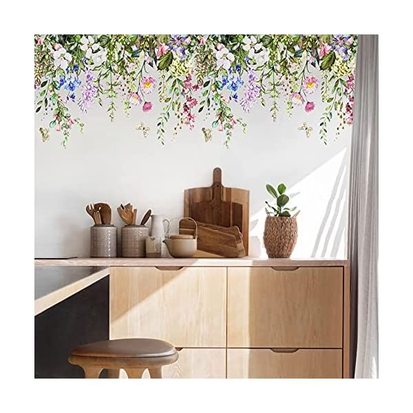 flowers wall stickers for living room wall murals peel and stick wall art decals for bedroomfloral wall decals for kitchen decals for home wall decor stickersflower decals 1