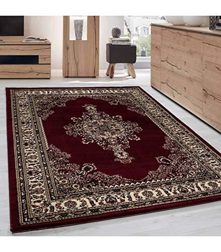 Orientteppich Klassischer Orientalisch Traditional Webteppich Schwarz Rot Beige - 300x400 cm