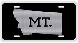 JMM Ind Montana State Love ? Vanity Novelty License Plate Tag Metal Big Sky Country 12-Inches by 6-Inches Etched Alumimum UV Resistant ELP010