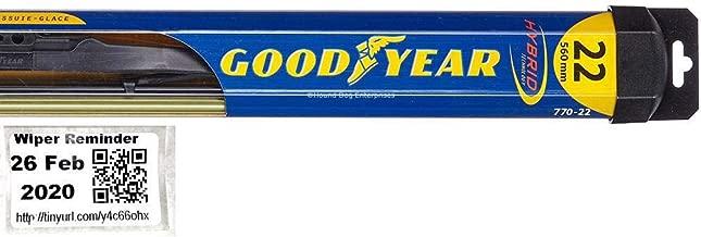 Hybrid - Driver Windshield Wiper Bundle - 2 Items: Driver Blade & Reminder Sticker fits 2002-2006 Chevrolet Trailblazer