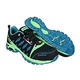 Goodyear Workwear GYSHU1588 - Zapatillas de Trabajo para Hombre, Ligeras, sin Metal, Resistentes al Agua, con Puntera compuesta no metálica, S3/SRC/HRO/ESD, Color Verde/Negro, 8 UK/42 EU