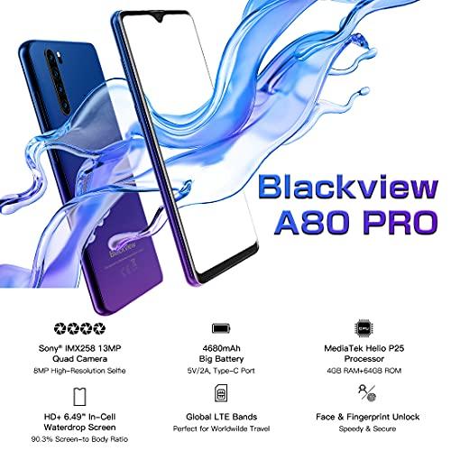 Blackview BV4900 Pro Téléphone Portable Incassable, Écran 5,7' 4Go+64Go Batterie 5580mAh,Caméra étanche 13MP Smartphone IP68 Étanche Antichoc Android 10 Smartphone Débloqué, NFC, GPS, OTG, Dual SIM 4G