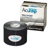 AcuTop PRO SPORT Kinesiology Tape, 5 cm x 5 m, schwarz