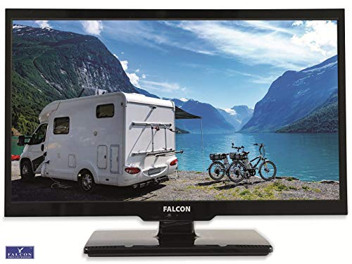 Falcon S4 Serie 24 Zoll Full HD LED TV mit DVD Player / 12V und 24V Betrieb/Bluetooth/Triple Tuner DVB-S2, DVB-T2, DVB-C/CI+ Steckplatz/ 12V KFZ Kabel inklusive/perfekt für den Camping Urlaub
