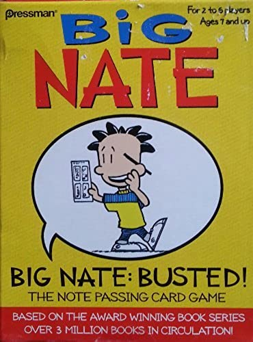 Big Nate  Busted Card Game by big Nate