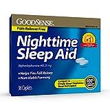 GoodSense Nighttime Sleep Aid, Diphenhydramine HCl 25 mg, Relieves Occasional Sleeplessness, 36 Count