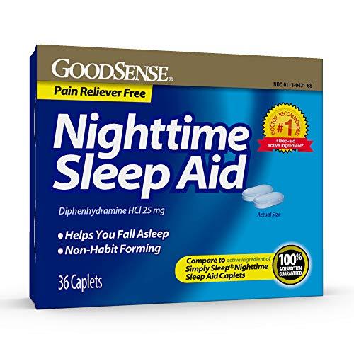 Good Sense Nighttime Sleep Aid, Diphenhydramine Hcl 25 Mg, 36Count