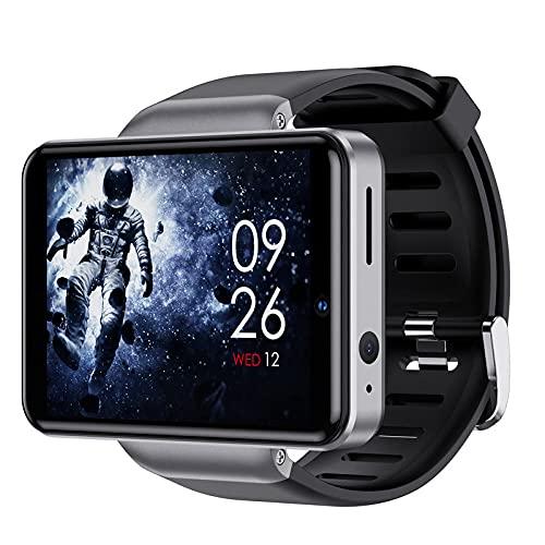 Yumanluo Orologio Fitness Tracker,Orologio con Scheda WiFi Android, Orologio Sportivo Intelligente-Argento (32G),Uomo Donna Cardiofrequenzimetro da Polso