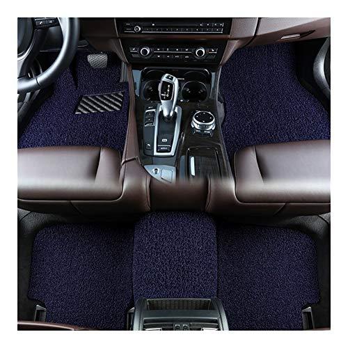 Huilian Mat Auto, Tappetino Antiscivolo Seta Loop Rilievo del Piede for Land Rover Discovery Sport Model Year 2015 Tappetino Auto (Colore : Blu)