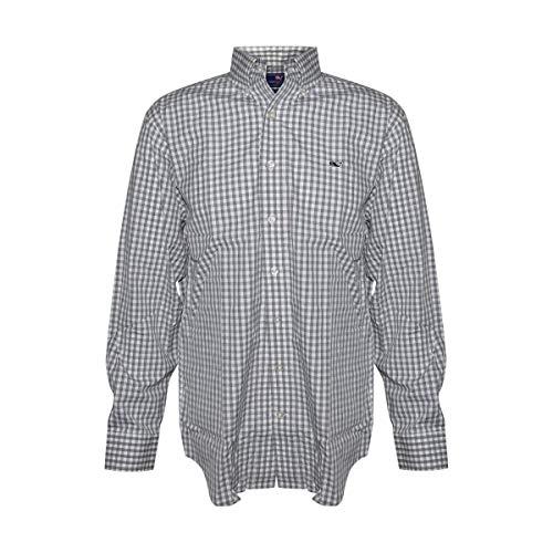 Vineyard Vines Men's Long Sleeve Button Down Whale Shirt Oxford (Small, Sullivan's Grey)