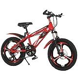 ZHAN YI SHOP Moto de 1820 pulgadas bicicleta, por 79 Años de Edad Suspensión delantera bicicleta de montaña de aluminio para Niños ruedas 18inch rojo