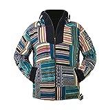 virblatt - Sudadera vintage con capucha | 100% algodón | Baja con capucha vintage suéter hippie chaqueta vintage ropa para hombre patchwork XL
