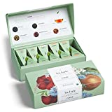 Tea Forte Fleur   Caja de 10 infusores piramidales   Surtido de 5 tés selección El Jardín Botánico de New York  
