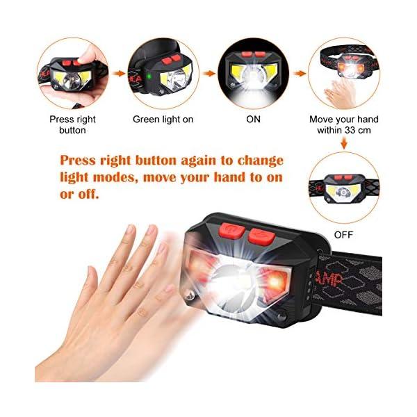 Linterna Frontal, Blusmart Linternas Frontales de Cabeza Led Recargable USB Impermeable, Perfecta para Excursiones en… 1