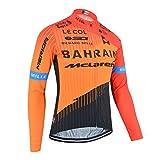 XIAKE Maillot Ciclismo para Hombre Camisetas Bicicleta Manga Larga Ropa Jersey MTB