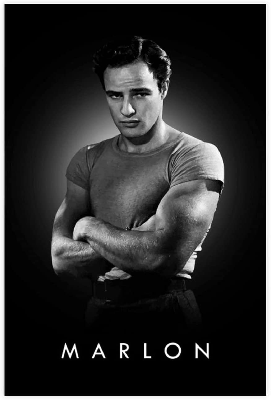 Marlon Be super welcome Brando Male Celebrity Retro Bedr ! Super beauty product restock quality top! Poster Art Canvas