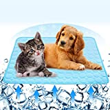 Summer Self-Cooling Pad for Cats and Dogs,Ultra Absorbent Microfiber Dog Cooling Mat,Cool and Comfortable Sleeping Dog Bed Mat,Anti-Slip Machine Washable Pet Mattress