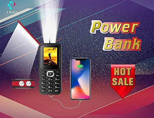 IKALL 8000 mAh Power Bank Feature Phone Triple SIM BlackRed