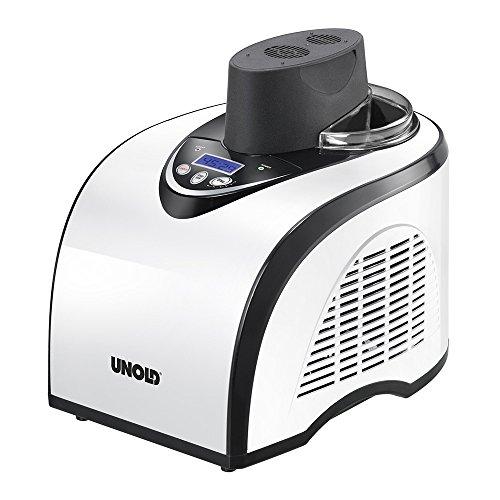 Compresor autorefrigerante completamente automático Congelación hasta -35 °C Recipiente para helado extraíble Accesorios: vaso medidor, cucharilla