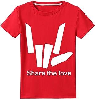 Thombase Kids Share The Love Steven Sharer T-Shirts You Tube Trending Tee White