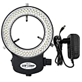 Shengshou LEDリング照明ライト 実体顕微鏡用LED照明装置 144 LEDビーズ 光源輝度調整可能 実体顕微鏡用二重巻き 顕微鏡カメラ レンズの直径30mm-63mm用 (ライト)